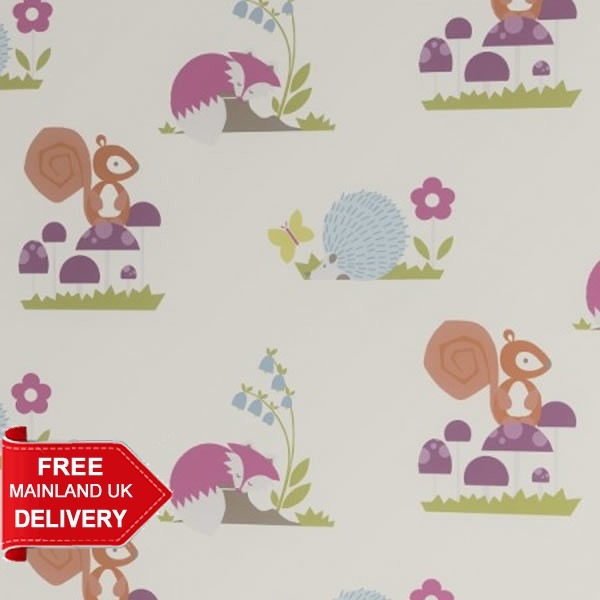 Woodland Story Spring Blackout Roller Blind