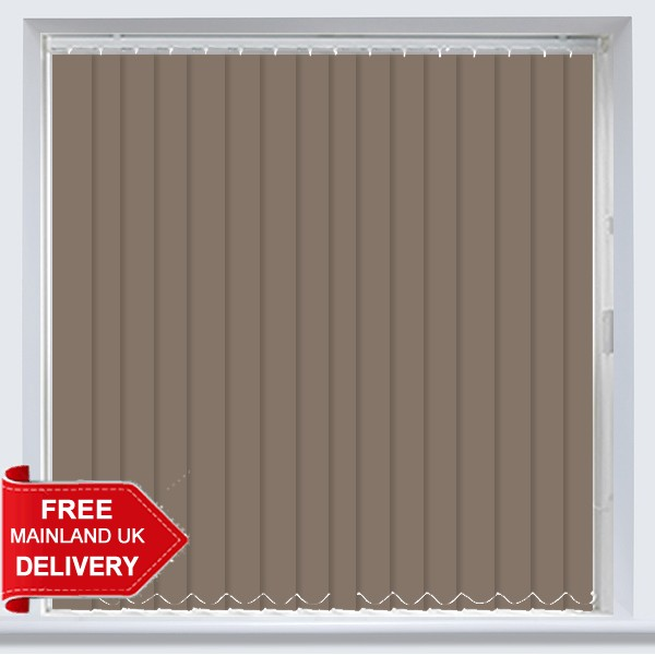 Abbey Blackout Taupe Vertical Blind
