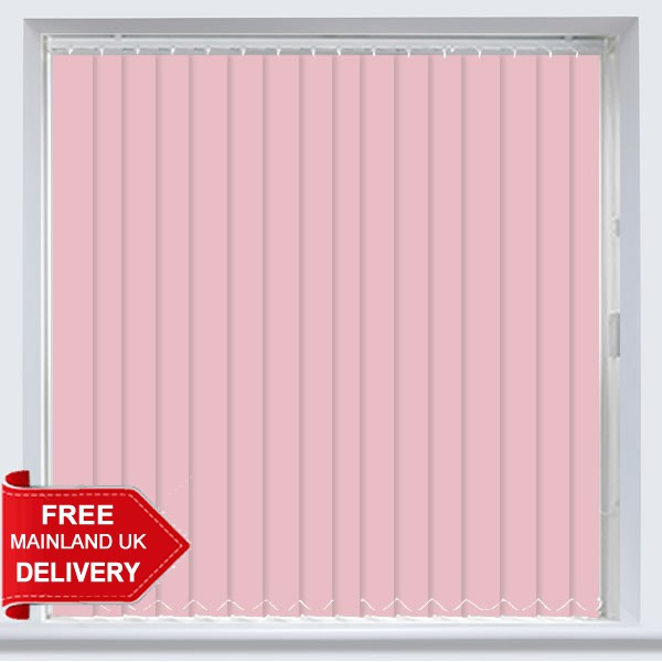 Banlight Pink Vertical Blind